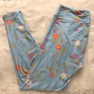 LulaRoe Floral Tall & Curvy Leggings